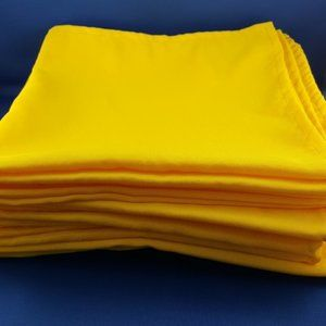 Sunshine Yellow 10-piece Fabric Napkin Set